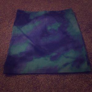 A blue tie dye skirt